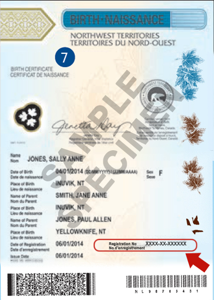Where is my status in Canada document number?